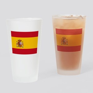 Spanish Flag Drinking Glass