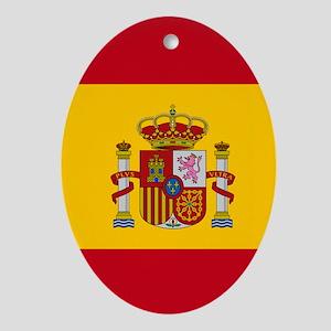 Spanish Flag Oval Ornament
