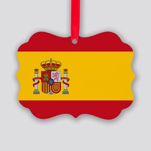 Spanish Flag Picture Ornament
