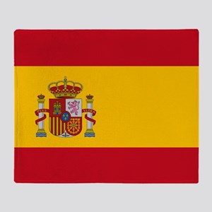 Spanish Flag Throw Blanket