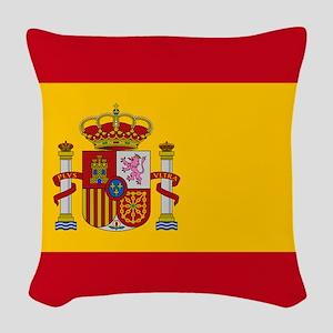 Spanish Flag Woven Throw Pillow