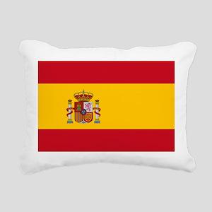 Spanish Flag Rectangular Canvas Pillow