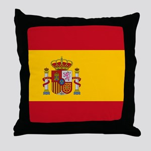 Spanish Flag Throw Pillow