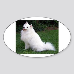 american eskimo full Sticker