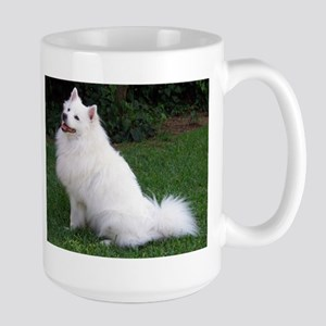 american eskimo full Mugs