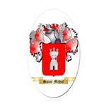 Saint Mihiel Oval Car Magnet