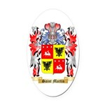 Saint Martin Oval Car Magnet