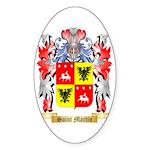 Saint Martin Sticker (Oval 10 pk)