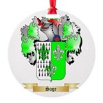 Sage Round Ornament