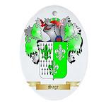 Sage Oval Ornament