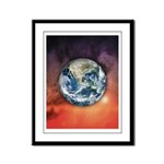 Planet Earth In Space Framed Panel Print