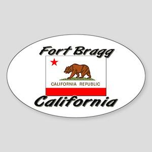 Fort Bragg California Oval Sticker