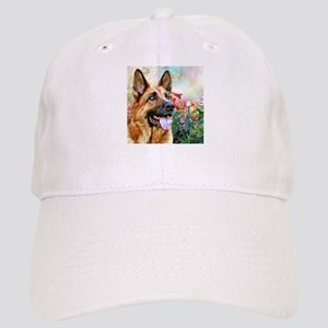 German Shepherd Painting Baseball Cap