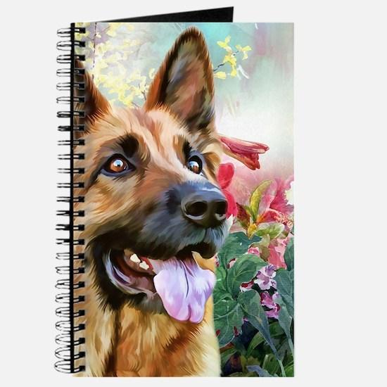 German Shepherd Painting Journal