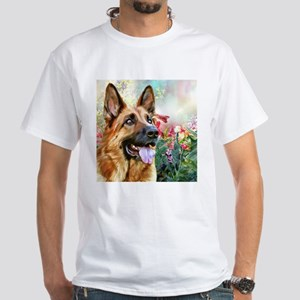 German Shepherd Painting T-Shirt
