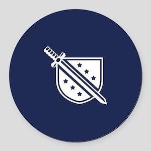 Phi Delta Theta Crest Round Car Magnet