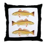 Redfish Red Drum Throw Pillow