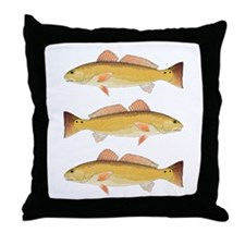 Redfish Red Drum Throw Pillow