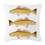 Redfish Red Drum Woven Throw Pillow