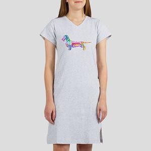 Wirehaired Dachshund Women's Nightshirt