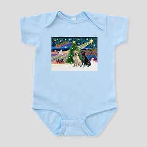 Xmas Magic/2 Labs (Y+B) Infant Bodysuit