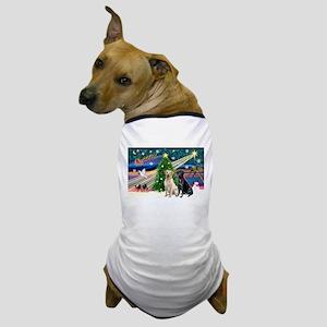 Xmas Magic/2 Labs (Y+B) Dog T-Shirt