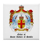Order of St. Isidore of Sevil Tile Coaster