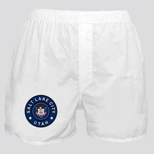 Salt Lake City Utah Boxer Shorts