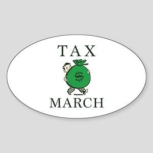 Tax March Sticker (Oval)