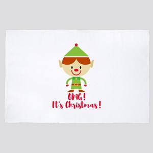 It's Christmas Elf Gifts for kids 4' x 6' Rug
