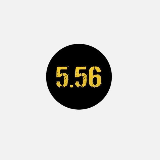5.56 Ammo: Black & Gold Mini Button