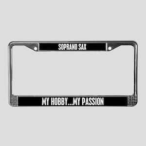 Soprano Sax License Plate Frame