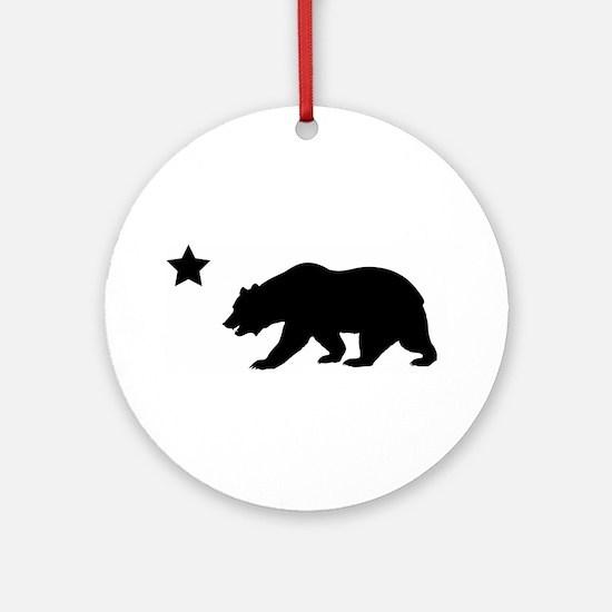 Cute California republic Round Ornament