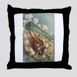 Death Defeated Throw Pillow