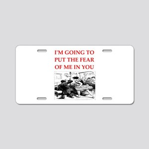 bdsm gag Aluminum License Plate