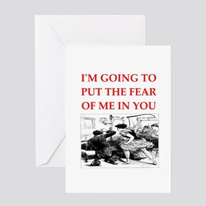 bdsm gag Greeting Cards