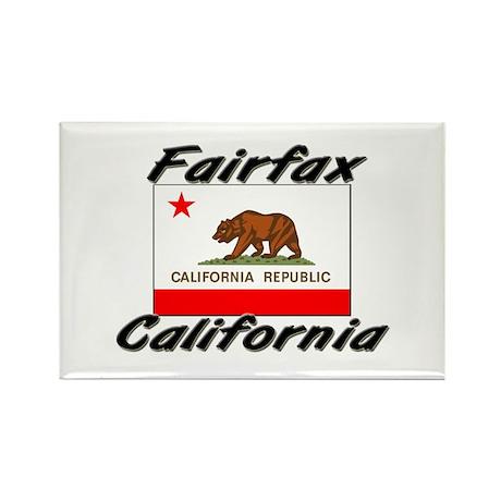 Fairfax California Rectangle Magnet