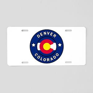 Denver Colorado Aluminum License Plate