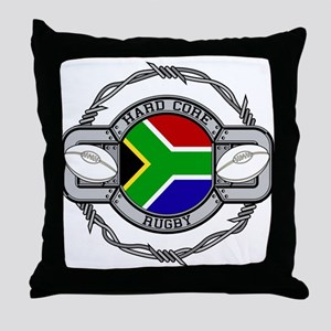 Hard Core South Africa Rugby Throw Pillow