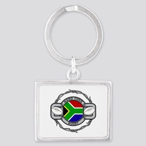 Hard Core South Africa Rugby Landscape Keychain