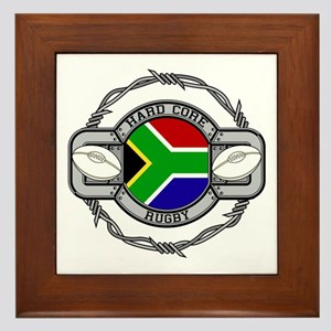 Hard Core South Africa Rugby Framed Tile