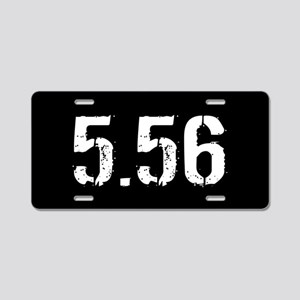 5.56 Ammo: Black Aluminum License Plate