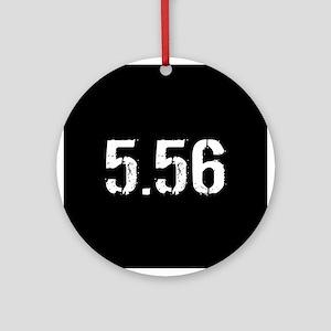 5.56 Ammo: Black Round Ornament