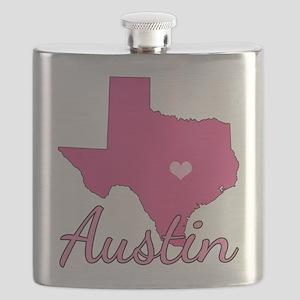 Austin TX Heart Flask