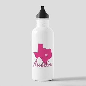 Austin TX Heart Stainless Water Bottle 1.0L