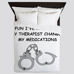 bondage joke on gifts and t-shirts. Queen Duvet