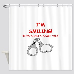 bondage joke on gifts and t-shirts. Shower Curtain