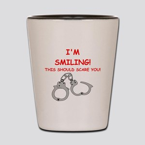 bondage joke on gifts and t-shirts. Shot Glass