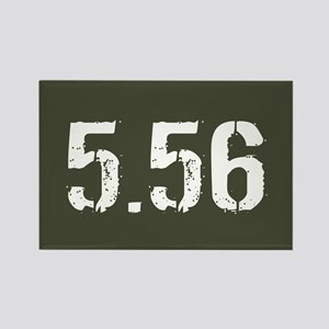 5.56 Ammo: Military Green Rectangle Magnet