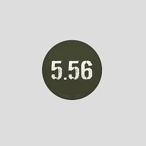 5.56 Ammo: Military Green Mini Button